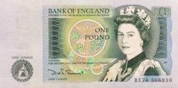 Great Britain 1 Pound, P-377b (1982) - UNC - 1952-… : Elizabeth II.