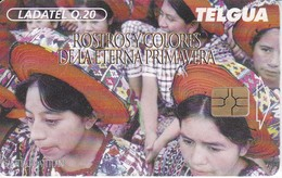 TARJETA DE GUATEMALA DE ROSTROS EN SANTIAGO ATITLAN (LADATEL) - Guatemala