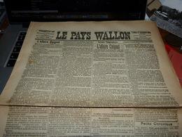 Journal Le Pays Wallon 22/12/1900 Rég Charleroi Suicide Thuillies Sauvetage Gozée Meurtre Froidchapelle Etc Etc - Kranten