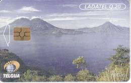 TARJETA DE GUATEMALA DEL LAGO ATITLAN (LADATEL) - Guatemala