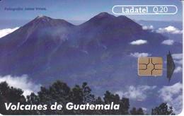 TARJETA DE GUATEMALA DE LOS VOLCANES ACATENANGO Y FUEGO (LADATEL) - Guatemala