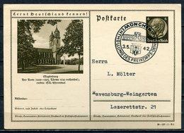 """German Empires 1942 Ganzsache Mi.Nr.P236/39-137-1-B5""""Lernt Deutschland !-Magdeburg,Dom""""mit SST""""1 GS Used - Germany"""