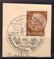 Kartenstueck, EF, SoSt Naunhof 1938 (89021) - Deutschland