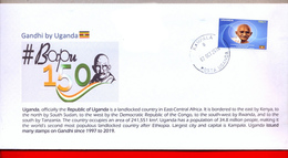 UGANDA 2019 New Stamp Issue GANDHI Birth Anniversary Private FDC First Day Of Issue Cover OUGANDA - Oeganda (1962-...)