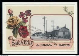 FOURON  ST  MARTIN .....  2 Cartes Souvenirs Gare ... Train  Creations Modernes Série Limitée - Fourons - Voeren