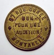 Jeton D'audition - MONTARGIS - Maison Fredet - Rare! - Monetari / Di Necessità