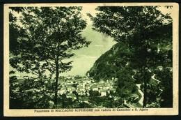 Panorama Di Maccagno Superiore Con Veduta Di Cannobio - Viaggiata 1926 - Rif. 09230 - Other Cities
