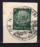 Kartenstueck, EF, SoSt Neusalz 1937 (89023) - Deutschland
