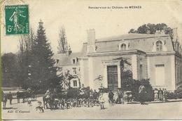 Rendez-vous Au Château De MESNES (Loir Et Cher) équipage De Chasse à Courre ***CARTE RARE*** - Francia