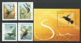 NAMIBIA  2005  SUNBIRDS  SET & MS  MNH - Hummingbirds