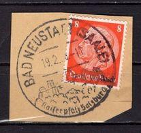Briefstueck, Hindenburg, SoSt Bad Neustadt 1938 (89025) - Deutschland