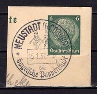 Ganzsachenstueck, Hindenburg, SoSt Neustadt Puppenstadt 1937 (89026) - Deutschland