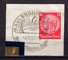Briefstueck, EF, SoSt Maulbronn 1937 (89029) - Deutschland