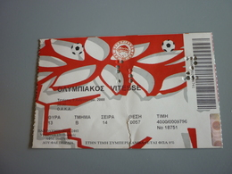 Olympiakos-Vitesse International Friendly Game Football Match Ticket Stub 09/08/2000 Fisherman's Friend Smirnoff Citroen - Match Tickets