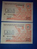 2 Billet ** De 1 KILO N*051, 052. CCETR 1948 - Bons & Nécessité
