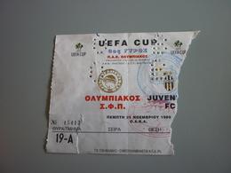 Olympiakos-Juventus UEFA CUP Football Match Ticket Stub 25/11/1999 (Fisherman's Friend Smirnoff Citroen) - Match Tickets