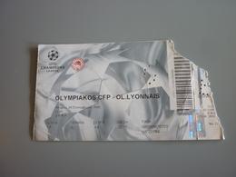 Olympiakos-Olympique Lyonnais UEFA Champions League Football Match Ticket Stub 20/9/2000 - Tickets D'entrée