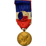 France, Travail-Industrie, Médaille, Excellent Quality, Gilt Bronze, 27 - Militaria