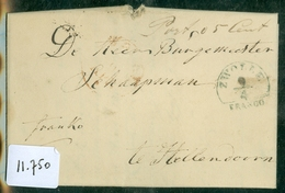 UIT 1842 * HANDGESCHREVEN BRIEF Uit WIJHE Aan BURGEMEESTER Te HELLENDOORN * HALFROND FRANCO ZWOLLE   (11.750) - Pays-Bas