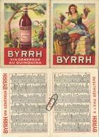 2   Calendrier - Kalender :   BYRRH - Vin Généreux Au Quinquina   1950  &  1951 - Non Classés