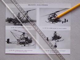Hélicoptère SO-1221 DJINN Sud-Aviation 4 Vue Donc 4 Versions Différentes Aéronautique Aérospatiale Avion Aviation-Civile - Helicopters
