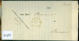 GESCHREVEN BRIEF Uit 1841 Als SIGNALEMENT Van De OFFICIER Van JUSTITIE Te LEIDEN Naar BURGEMEESTER Te BRUMMEN   (11.75) - Pays-Bas