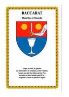 BACCARAT (54) - Blason - Armoiries - Baccarat
