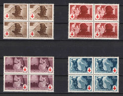 Hungary 1944. Red Cross Nice Set In 4-blocks MNH (**) Michel: 745-748 X4 - Unused Stamps