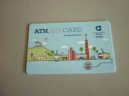 Greece Greek Athens Transportation Plastic Card Used Ticket For Bus/tram/train/metro (Athena Card) - Week-en Maandabonnementen