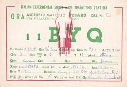 CARTOLINA RADIO QSL - PESARO - VIAGGIATA PER BOVISIO ( MONZA E DELLA BRIANZA) - Pesaro