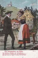 AK Ein Sträusschen Am Hute - Liebespaar - Lied Liedtext - Ca. 1910 (46334) - Muziek En Musicus