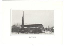 Eglise De BACCARAT (54) - Hiver 1992 - Baccarat