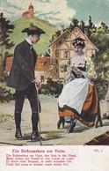 AK Ein Sträusschen Am Hute - Liebespaar - Lied Liedtext - Ca. 1910 (46336) - Muziek En Musicus