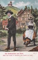 AK Ein Sträusschen Am Hute - Liebespaar - Lied Liedtext - Ca. 1910 (46337) - Muziek En Musicus