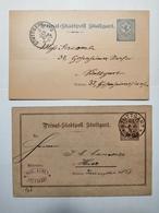 Postkarte Privat Stadtpost Stuttgart 1888 - Deutschland