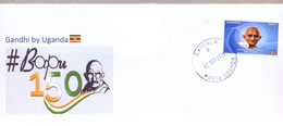 UGANDA 2019 New Stamp Issue GANDHI Birth Anniversary Private FDC First Day Of Issue Cover OUGANDA - Ouganda (1962-...)