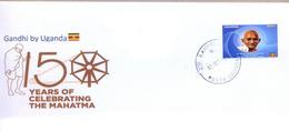 UGANDA 2019 New Stamp Issue GANDHI Birth Anniversary Private FDC First Day Of Issue Cover OUGANDA - Uganda (1962-...)