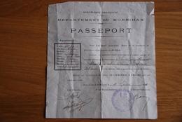 Passeport Morbihan - Historische Documenten