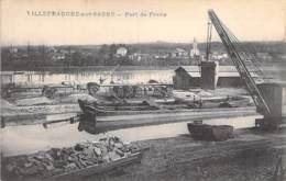 PENICHES Barge - 69 VILLEFRANCHE Sur SAONE Port De Frans - Bon Plan PENICHE EN CHARGEMENT - CPA - Lastkähne Aken Chiatte - Arken