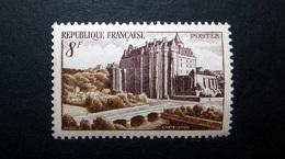 FRANCE 1950 N°873 ** (CHÂTEAUDUN. 8F BRUN-VIOLET ET BRUN) - Unused Stamps