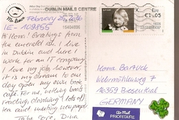 Ireland & Marcofilia, Arbor Day, Dublin To Biesenthal Germany 2016 (6566) - Covers & Documents