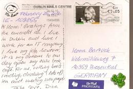 Ireland & Marcofilia, Arbor Day, Dublin To Biesenthal Germany 2016 (6566) - 1949-... Repubblica D'Irlanda