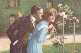 AK Rose Und Schmetterling - Liebespaar - Blumen Rosen - Ca. 1910 (46352) - Coppie