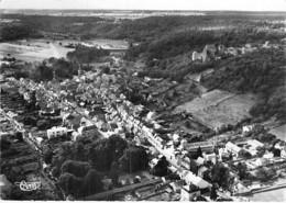 78 - CHEVREUSE : Vue Aérienne - CPSM Village (5.680 Habitants) Dentelée Noir Blanc Grand Format 1956 - Yvelines - Chevreuse