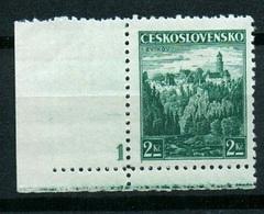 1936 Czechoslovakia Mi 353 ** MNH - (plate Number) - Ungebraucht