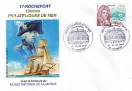 18ème Philatéliques De Mer. Rochefort - Gedenkstempels