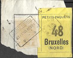 "A0.80:GAND(SUD):█3 FEVR 10m 91:op Fragm.""Lettre De Voiture"":N°48>Bruxelles (Nord):type C_s:+ Hexagone Op Etiket: Expres - Used"