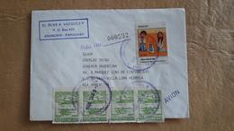 Enveloppe Du Paraguay Distribuée Avec Beaucoup De Timbres - Paraguay
