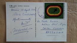 Carte Postale Du Paraguay Diffusée Avec Des Timbres De Football - Paraguay
