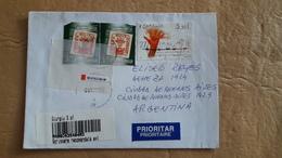 Enveloppe De Roumanie Envoyée En Argentine Avec Beaucoup De Timbres Modernes - Cartas
